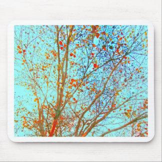 Mousepad Folhas da laranja do outono e céu azul