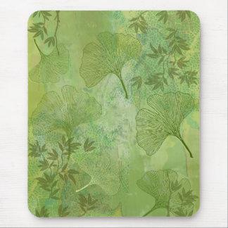 Mousepad Folhas da nogueira-do-Japão e do bambu - cores