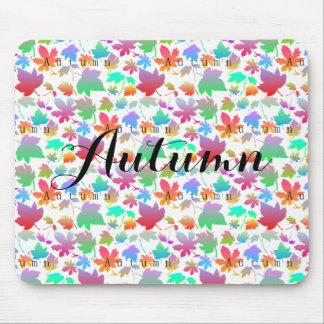 Mousepad Folhas de outono coloridas
