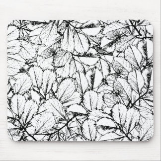 Mousepad Folhas do branco