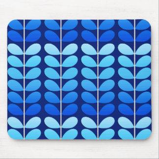 Mousepad Folhas, marinho e azuis cobaltos dinamarqueses do