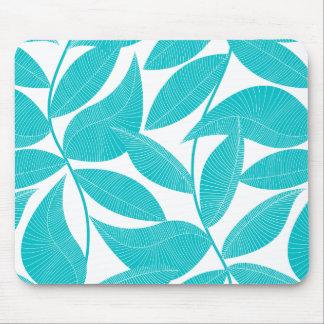 Mousepad Folhas tropicais de turquesa