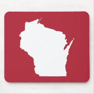 Mousepad Forma vermelha e branca de Wisconsin