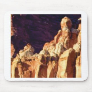 Mousepad formações de rocha vermelhas na pedra