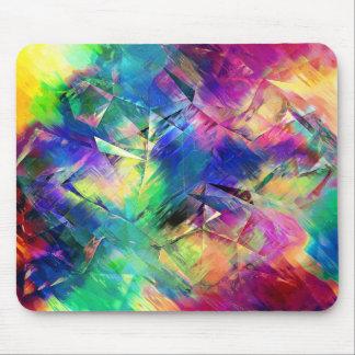 Mousepad Formas e texturas coloridas abstratas