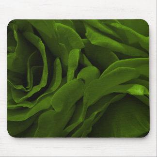 Mousepad Foto aveludado da flor dos rosas da verde azeitona