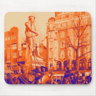 Mousepad foto digital de Amsterdão da estátua de rembrandt