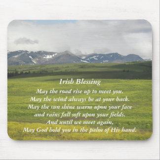 Mousepad Foto irlandesa do vale verde da bênção