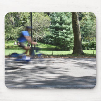 Mousepad Fotografia NYC do ciclista do Central Park da Nova