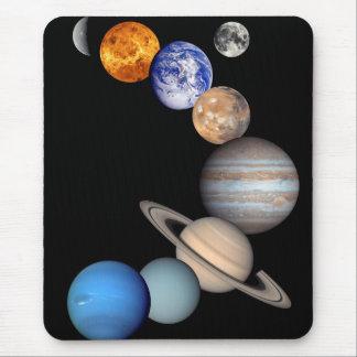 Mousepad Fotos do planeta do montagem JPL do sistema solar
