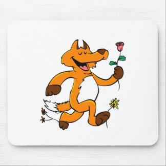 Mousepad Fox que funciona com uma flor