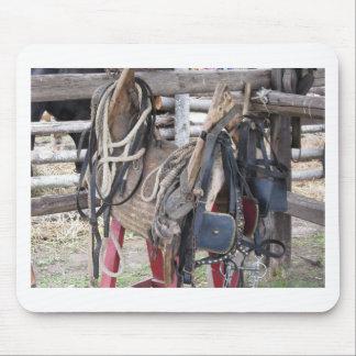 Mousepad Freios e bocados de couro gastos do cavalo