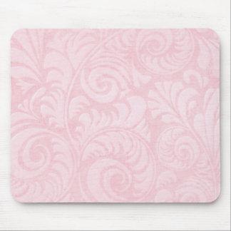Mousepad Frondas Mousemat da palma no rosa cor-de-rosa