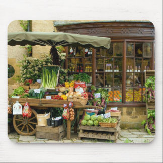 Mousepad Fruta e loja inglesa colorida da vila de Veg