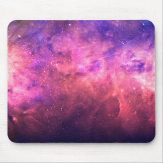 Mousepad Fulgor cósmico do fogo do céu da galáxia do céu