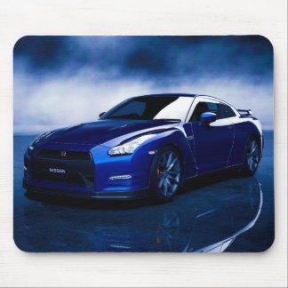 Mousepad Fundo azul do enfumaçado de Nissan GT-R
