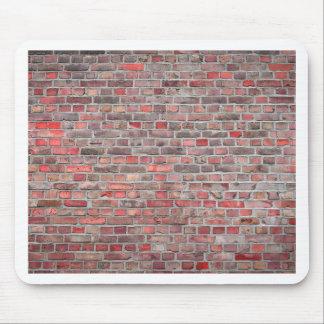 Mousepad fundo da parede de tijolo - pedra vermelha do