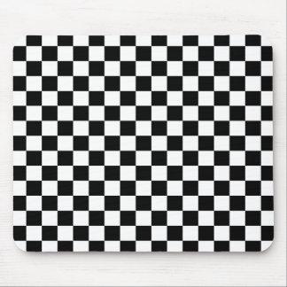 Mousepad Fundo preto & branco do tabuleiro de damas