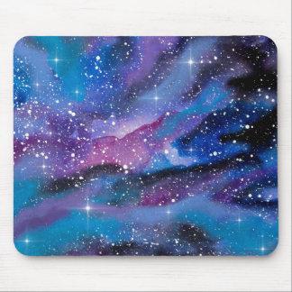 Mousepad Galáxia da aguarela da arte do espaço