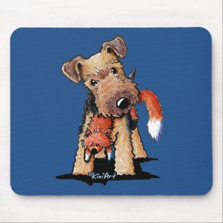 Mousepad Galês Terrier com Fox do brinquedo
