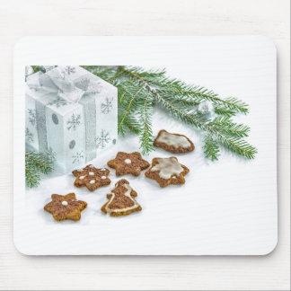 Mousepad galhos e biscoitos da decoração do Natal