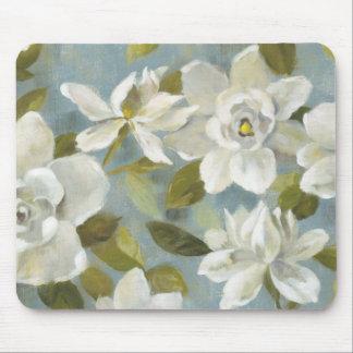 Mousepad Gardenias no azul da ardósia