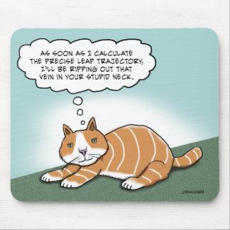 Mousepad Gatinho mau engraçado