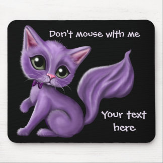 Mousepad Gatinho roxo