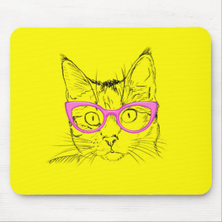 Mousepad Gato bonito no tapete do rato dos vidros