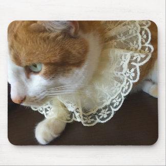 Mousepad Gato com colar do laço