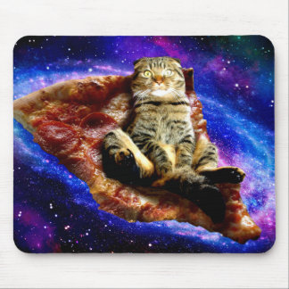 Mousepad gato da pizza - gato louco - gatos no espaço