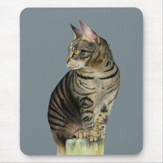 """Mousepad """"Gato de gato malhado da vigia"""" na ilustração de"""