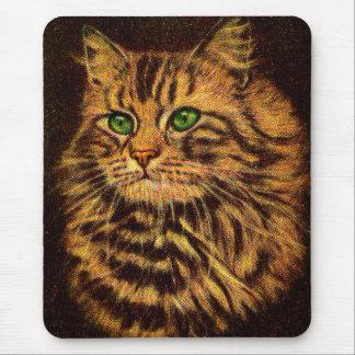 Mousepad gato de gato malhado de cabelos compridos bonito