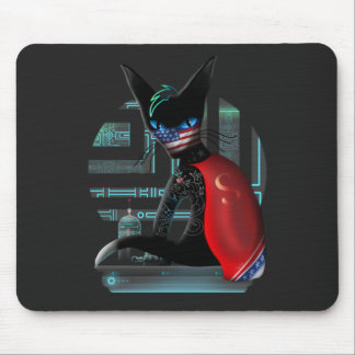 Mousepad Gato de Ninja do Cyberpunk