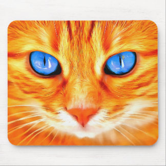 Mousepad Gato de olhos azuis