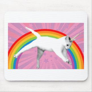 Mousepad Gato do arco-íris do unicórnio