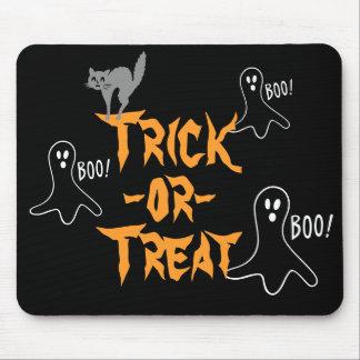 Mousepad Gato do fantasma do Dia das Bruxas da doçura ou