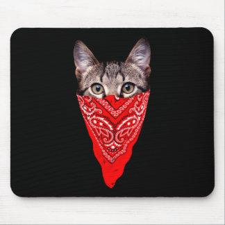 Mousepad gato do gângster - gato do bandana - grupo do gato