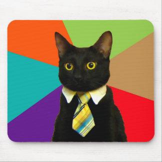 Mousepad gato do negócio - gato preto