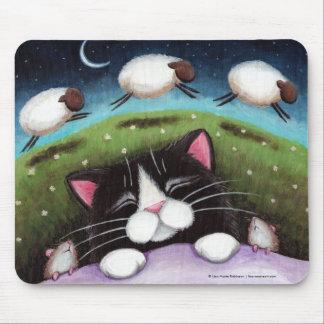 Mousepad Gato e ratos do sono que sonham dos carneiros