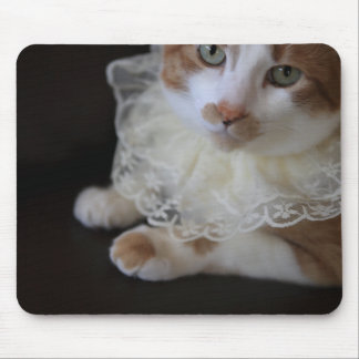 Mousepad Gato no colar laçado