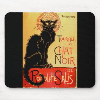 Mousepad Gato preto de Arte Nouveau Le Conversa Noir do