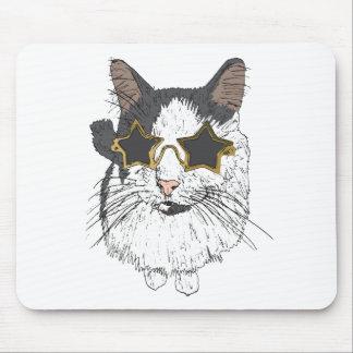 Mousepad Gato que veste vidros da estrela