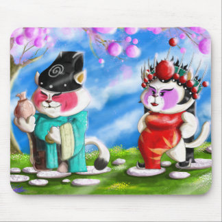 Mousepad Gatos chineses da ópera