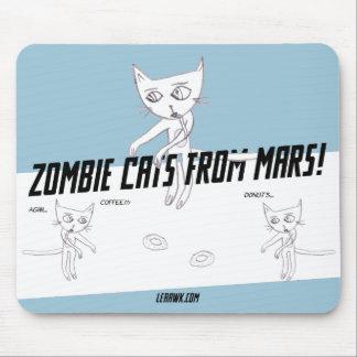 Mousepad Gatos do zombi de Marte #05b