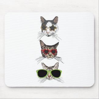 Mousepad Gatos que vestem óculos de sol