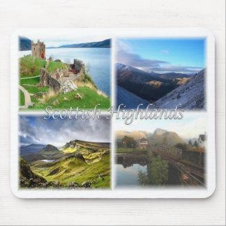 Mousepad GB Reino Unido Scotland - as montanhas escocesas