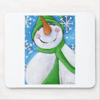 Mousepad Gelado o boneco de neve feliz