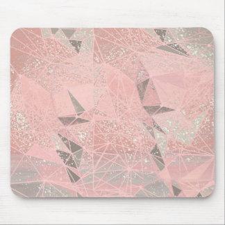 Mousepad geometria de espaço cor-de-rosa