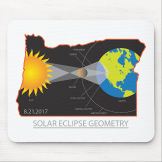 Mousepad Geometria do eclipse 2017 solar através das